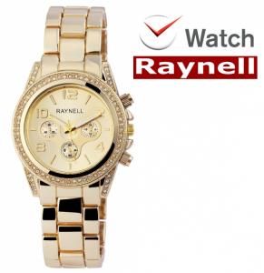 Relógio Raynell Woman   Mostrador Dourado   Movimento Quartzo de Alta Qualidade