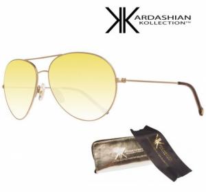 KIM KARDASHIAN® Óculos Sol Edição Especial Light Gold Mirror Aviator