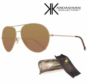 KIM KARDASHIAN® Óculos Sol Edição Especial Dark Gold Mirror Aviator