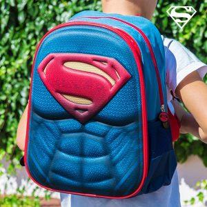 Super Homem | Mochila Escolar 3D | Produto Licenciado