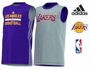 Adidas® Cabeada Basketball Los Angeles Lakers Reversível Júnior