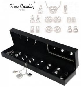 Conjunto Pierre Cardin® Crystal Pendant Silver | 1 Colar, 6 Pares Brincos e 3 Pendentes