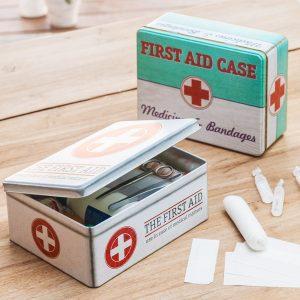 Caixa Vintage Metálica Medical