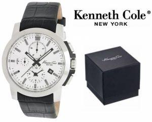 Relógio Kenneth Cole® New York Black & White Com Cronógrafo | 5ATM