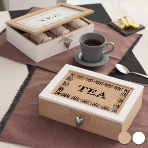 Caixa de Madeira Para Chá ou Outras Infusões Vintage
