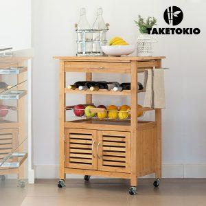 TakeTokio | Carro de Cozinha em Bambu