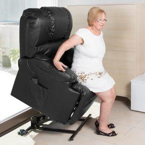 Poltrona de Repouso Com Elevação | 10 Modos Massagem | 8 Motores | Função Calor | Comando Luminoso  Compact 6011