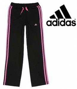 Adidas® Calças Preto | Rosa Júnior | 100% Algodão