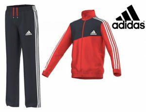 Adidas® Fato de Treino Júnior Vermelho | Cinza