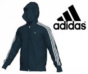 Adidas® Casaco Júnior Essential 3s Capuz | Tecnologia Climalite Cotton®