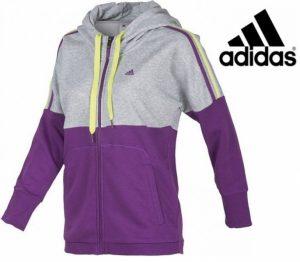 Adidas® Casaco Essentials Cinza | Roxo | Tecnologia Climalite Cotton®