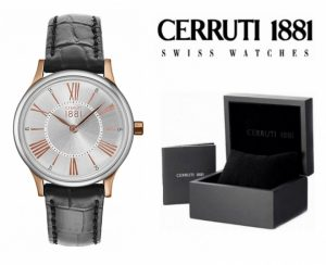 Relógio Cerruti 1881®  Preto e Rose Gold | 3 ATM