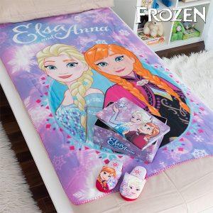 Caixa Metálica com Manta e Chinelos Frozen