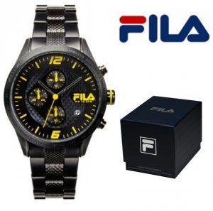 Relógio Fila® Filactive Preto Com Cronógrafo | 10ATM