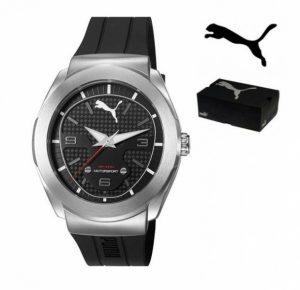 Puma® Motorsport | Bracelete Silicone Preta | 10ATM