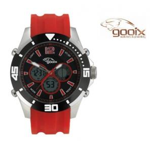 Relógio Gooix® Buzzer Cronógrafo Digital Vermelho | Preto | 10ATM