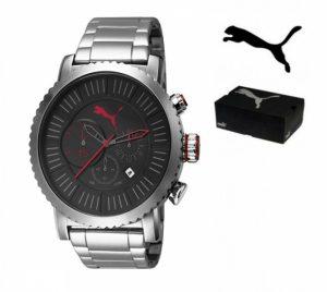 Puma® Cronógrafo | Bracelete Em Aço inoxidável | 10ATM