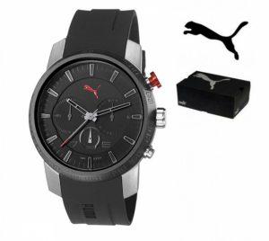 Puma® Cronógrafo | Bracelete Em Silicone Preta | 10ATM