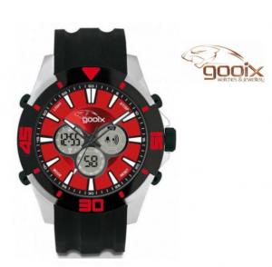 Relógio Gooix® Buzzer Cronógrafo Digital Preto | Vermelho | 10ATM