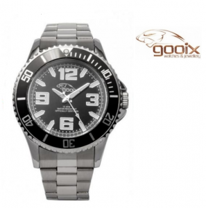 Relógio Gooix® Merek Preto | Prateado | 10ATM