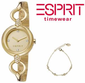 Relógio Esprit® Conjunto Naomi Gold | Pulseira AJÚSTAVEL Com Banho de Ouro
