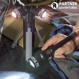 ÚTIL em Emergência ou Catástrofes | Lanterna LED 3 em 1 com Tripé | Desmontável em 3 Lanternas Independentes