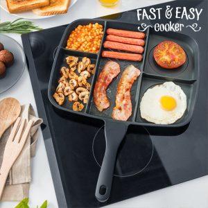 Frigideira Antiaderente 5 em 1 Fast & Easy Cooker