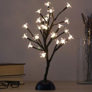 Árvore Decorativa Com Flores (24 LED)