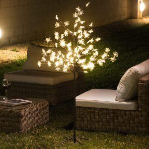 Árvore Decorativa Com Folhas (120 LED)