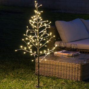 Árvore Com Neve Decorativa (96 LED)