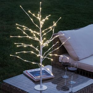 Árvore Com Neve Decorativa (112 LED)