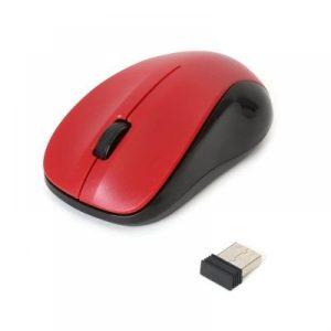 Rato Omega Sem Fio | 2,4GHz USB 1000DPI OM0412WB | Vermelho