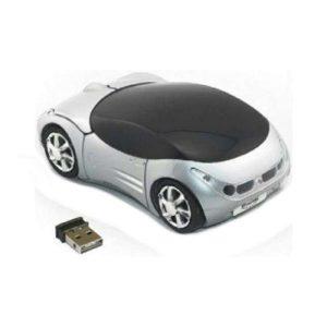 Rato Omega | Sem Fios 1200DPI | Carro Branco