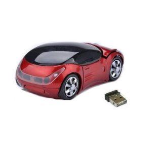 Rato Omega | Sem Fios 1200DPI | Carro Vermelho