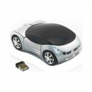 Rato Omega | Sem Fios 1200DPI | Carro Prateado