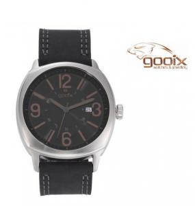 Relógio Gooix® Bracelete Couro Preto | 5ATM
