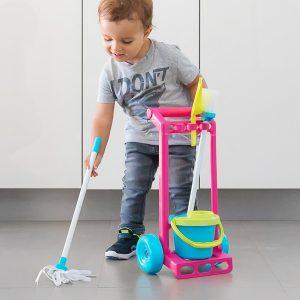 Carro De Limpeza Para Brincar (5 peças)
