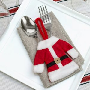Pack 3 unidades Fato de Pai Natal para Talheres