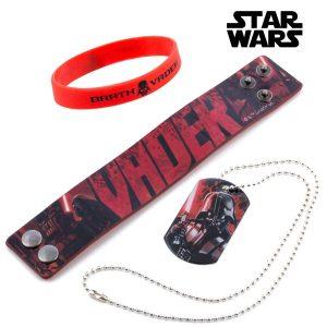 Star Wars | Pulseira e Colar Darth Vader | Produto Licenciado