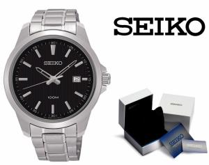 Relógio Seiko Quartz® Prata e Azul com Data !