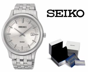 Relógio Seiko Quartz® Prata e Branco com Data !