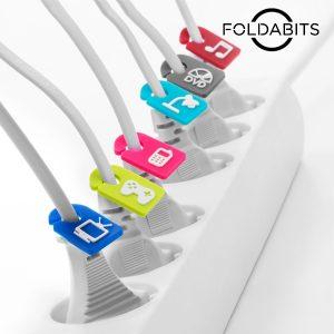 Identificadores De Cabos Foldabits  | Pack de 6 Unidades !