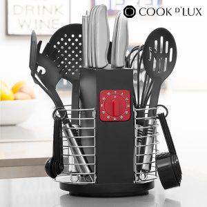 Utensílios De Cozinha Com Temporizador E Organizador Cook D'Lux (24 Peças)