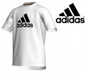 Adidas® T-Shirt Essentials Logo Tee | Branca | Tecnologia Climalite Cotton®