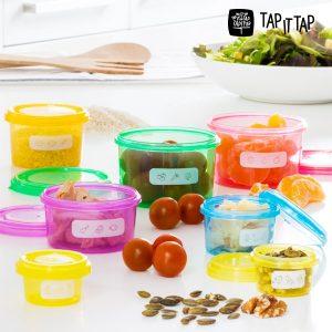 Recipientes de Equilíbrio Nutricional Tap It Tap (7 peças)