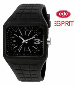 Relógio EDC by Esprit® Rubber Rebel Cool Black | 3ATM