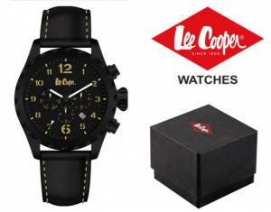 Relógio Lee Cooper® Bracelete em Pele Genuína LC-47G-A | 5ATM