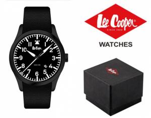 Relógio Lee Cooper® Bracelete em Pele Genuína LC-48G-B | 10ATM
