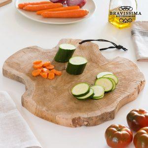 Tábua de Cozinha Rústica Trunk Madeira de Teca | Village Bravissima Kitchen