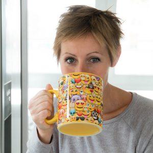 Chávena XXL Emoticons | Aprox 900 ML | Porcelana | Apta para o Microondas !